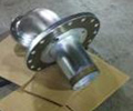 Rack Zinc Plating of a Steel Pump Flange for a Local City Project
